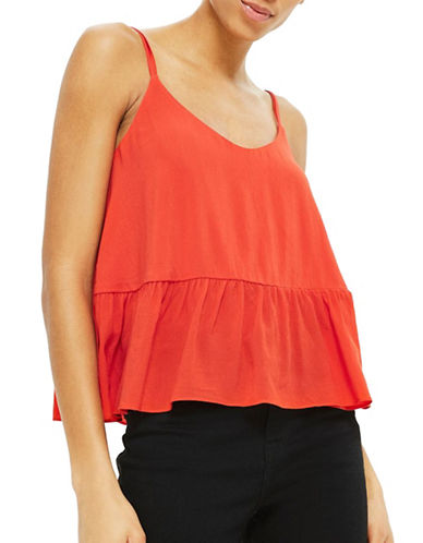 Topshop Relaxed Cami-RED-UK 8/US 4