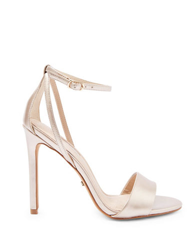 Topshop Raphael Two-Part Sandals-GOLD-EU 39/US 8.5