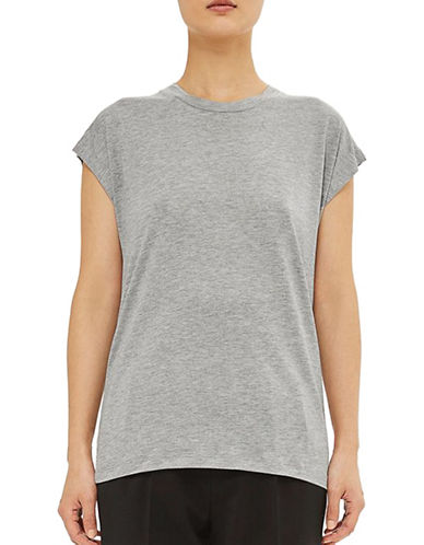 Topshop Grown-On Tee by Boutique-GREY MARL-UK 10/US 6