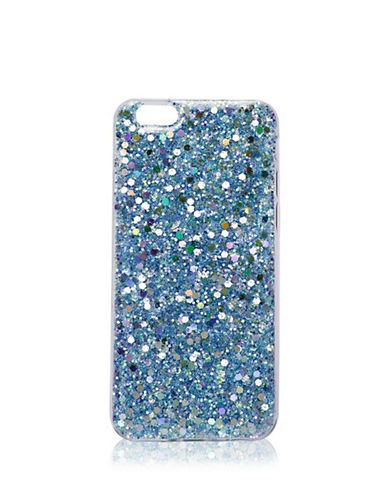 Topshop Iridescent Glitter iPhone 6 Case-BLUE-One Size