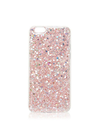 Topshop Iridescent Glitter iPhone 6 Case-PINK-One Size