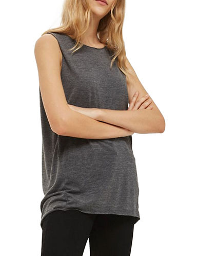 Topshop Acid Wash Tank Top-BLACK-UK 10/US 6