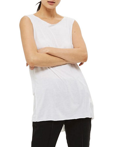 Topshop Acid Wash Tank Top-WHITE-UK 8/US 4