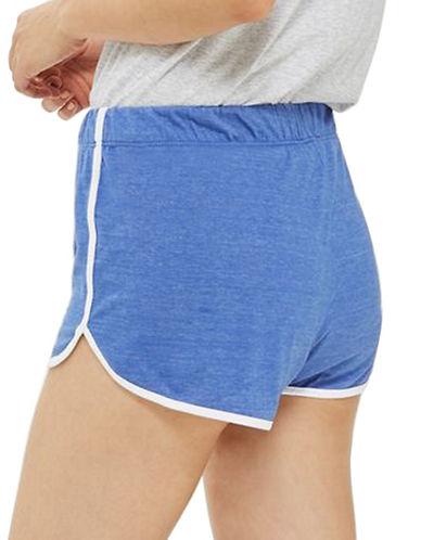Topshop Sporty Neppy Runner Shorts-BLUE-UK 10/US 6