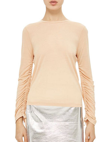 Topshop Ruched Top by Boutique-BLUSH-UK 12/US 8