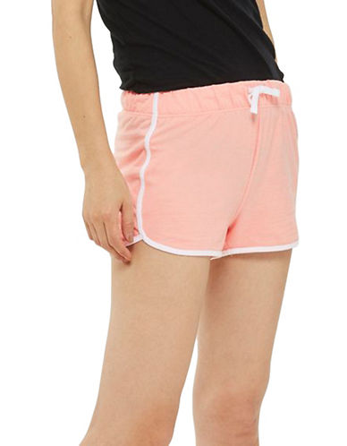 Topshop Sporty Neppy Runner Shorts-PINK-UK 10/US 6