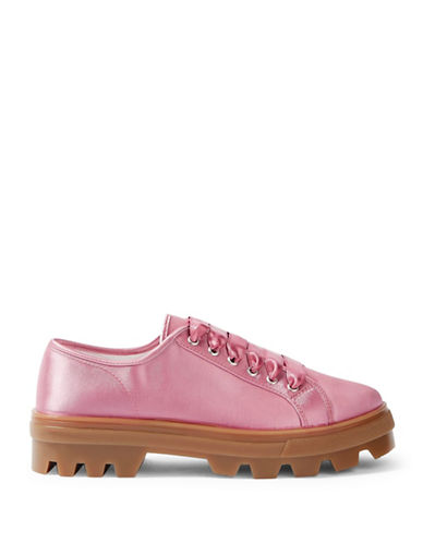 Topshop Clover Satin Sneakers-PINK-EU 37/US 6.5