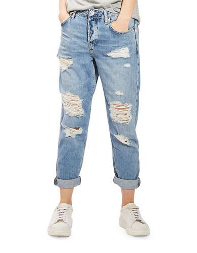 Topshop MOTO Bleach Rip Hayden Boyfriend Jeans 30-Inch Leg-BLEACH-26X30