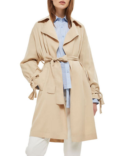 Topshop Duster Coat-STONE-UK 12/US 8