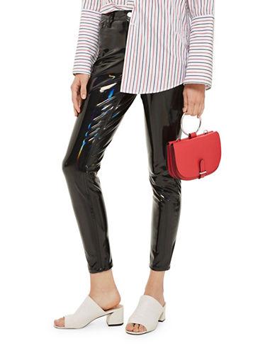 Topshop MOTO Holographic Jamie Jeans 30-Inch Leg-BLACK-30X30