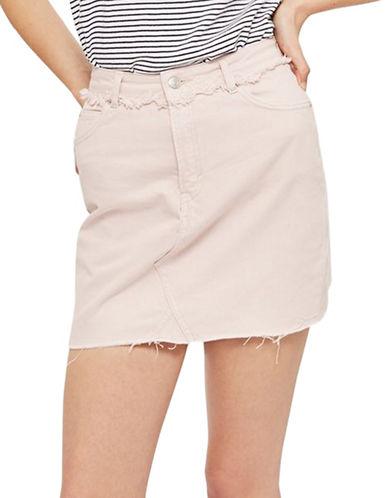 Topshop MOTO Pink Denim Skirt-PINK-UK 10/US 6