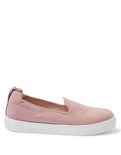 Topshop Temp Slip-On Anaconda Trainers-NUDE-EU 36/US 5.5
