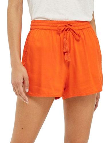 Topshop Woven Beach Shorts-ORANGE-UK 8/US 4