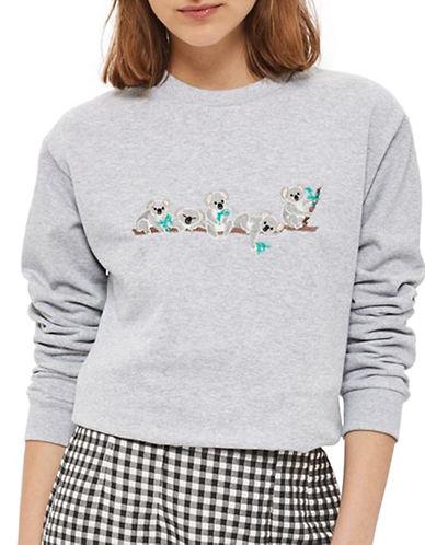 Topshop Koala Sweatshirt-GREY-UK 8/US 4