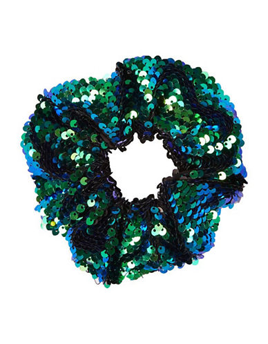 Topshop Sequin Hair Scrunchie-GREEN-One Size