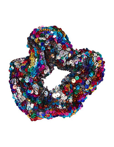 Topshop Sequin Hair Scrunchie-MULTI-One Size