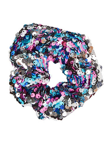 Topshop Sequin Hair Scrunchie-PINK-One Size