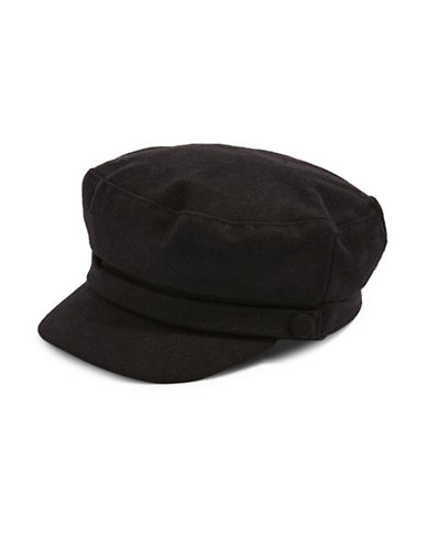 Topshop Baker Boy Hat-BLACK-One Size