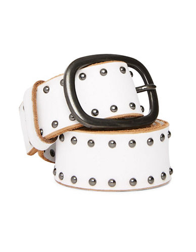 Topshop Studded Belt-WHITE-X-Small