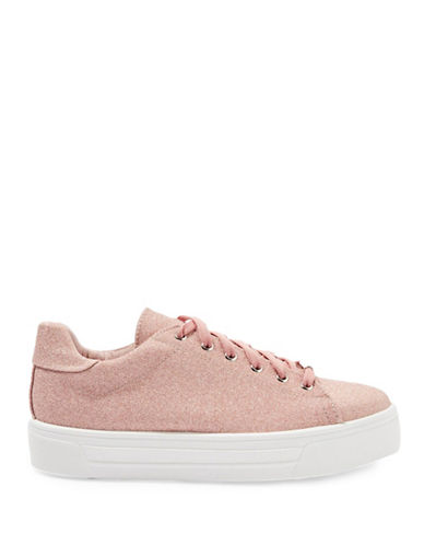 Topshop Commander Shimmer Flatforms-ROSE GOLD-EU 39/US 8.5