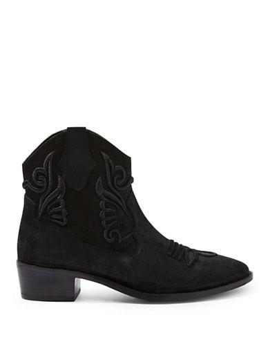 Topshop Western Boots-BLACK-EU 37/US 6.5