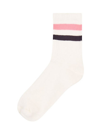 Topshop Sporty Tube Ankle Socks-MULTI-One Size