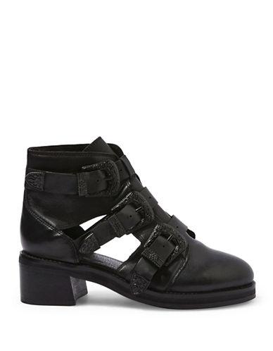 Topshop Marco Buckle Boots-BLACK-EU 36/US 5.5