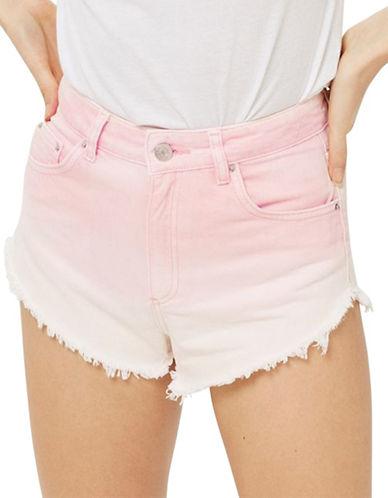 Topshop MOTO Ombre Kiri Shorts-PINK-UK 8/US 4