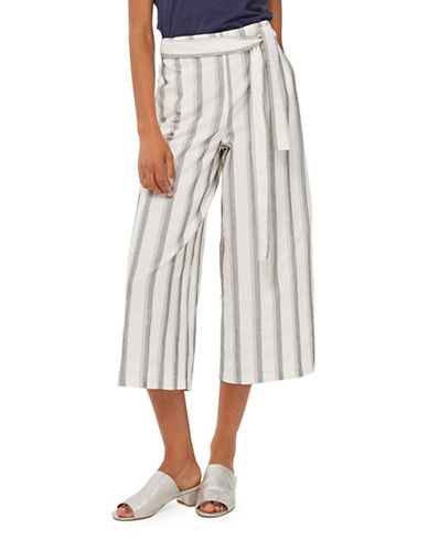 Topshop Cropped Striped Trousers-MONOCHROME-UK 6/US 2 89280532_MONOCHROME_UK 6/US 2