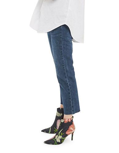 Topshop MOTO Dree Cropped Jeans 30-Inch Leg-BLUE-32X30