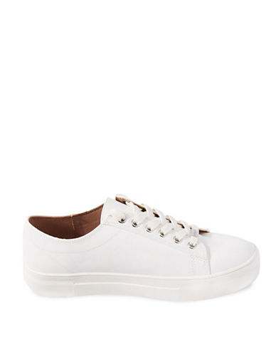 Topshop Caramel Flatform Sneakers-WHITE-EU 41/US 10.5