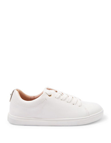 Topshop Coffee Lace-Up Sneakers-WHITE-EU 41/US 10.5