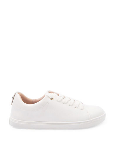 Topshop Coffee Lace-Up Sneakers-WHITE-EU 36/US 5.5