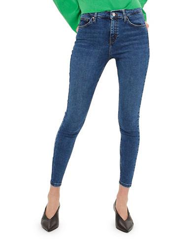 Topshop PETITE MOTO Jamie Jeans 28-Inch Leg-BLUE-25X28