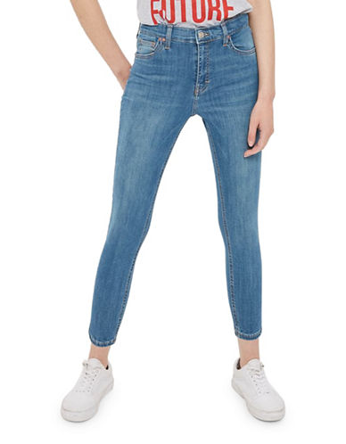 Topshop PETITE Jamie Jeans 28-Inch Leg-BLUE GREEN-28X28