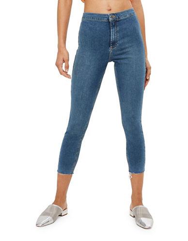 Topshop PETITE Raw Hem Joni Jeans 28-Inch Leg-BLUE-24X28