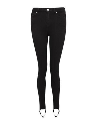 Topshop MOTO Stirrup Hem Jamie Jeans 30-Inch Leg-BLACK-34X30