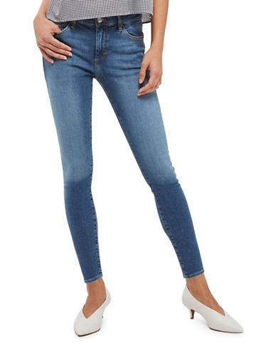 Topshop PETITE Sidney Jeans 28-Inch Leg-BLUE-26X28