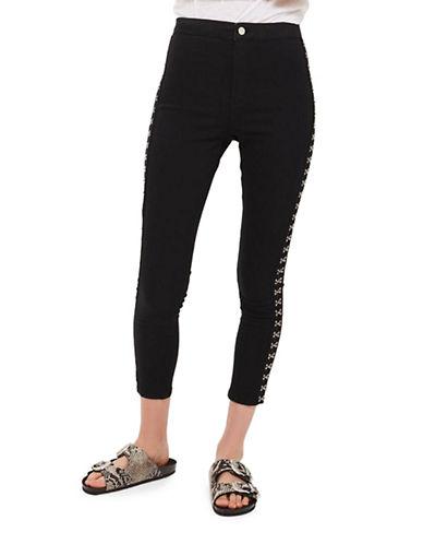 Topshop MOTO Hook-and-Eye Joni Jeans 30-Inch Leg-BLACK-32X30