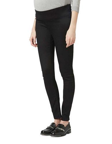Topshop MATERNITY MOTO Joni Jeans 30-Inch Leg-BLACK-UK 12/US 8