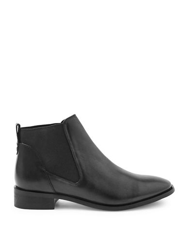 Topshop King Leather Chelsea Boots-BLACK-EU 38/US 7.5