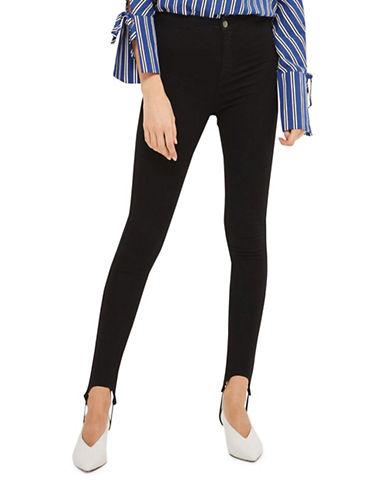 Topshop MOTO Stirrup Joni Jeans 30-Inch Leg-BLACK-26X30