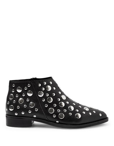 Topshop Alec Studded Boots-BLACK-EU 37/US 6.5