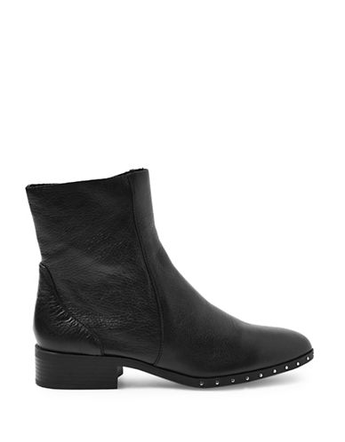 Topshop Kash Leather Sock Boots-BLACK-EU 38/US 7.5