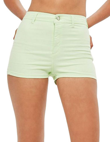 Topshop MOTO Joni Stretch Shorts-GREEN-UK 8/US 4