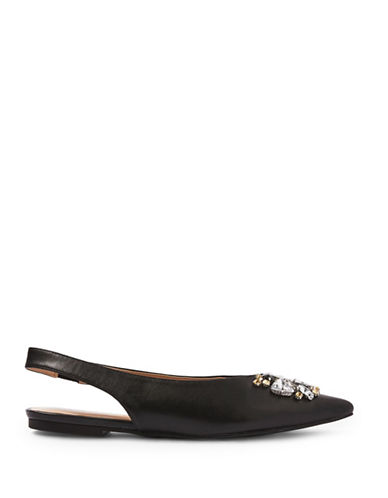 Topshop Ava Gem Slingback Shoes-BLACK-EU 40/US 9.5