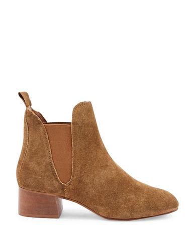 Topshop Barley Suede Boots-TAN-EU 38/US 7.5