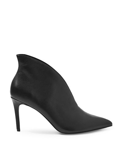 Topshop Hale Deep Cut Boots-BLACK-EU 38/US 7.5