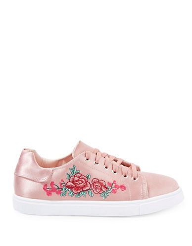 Topshop Camilla Embroidered Sneakers-NUDE-EU 38/US 7.5