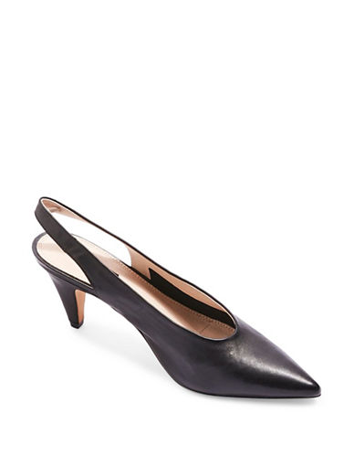 Topshop Jetset Leather Pumps-BLACK-EU 36/US 5.5